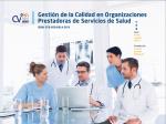Cubierta para Gestión de la Calidad en Organizaciones Prestadoras de Servicios de Salud